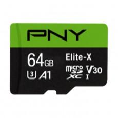 Pny Elite-X MicroSD Memory Card - 64GB