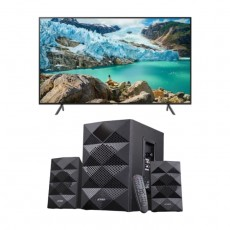 Samsung 50 inches UHD Smart LED TV - UA50TU8000 + F&D 2.1 Ch Bluetooth Speaker - A180X