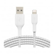 Belkin Boost Charge Braided Lightning to USB-A Cable - 3M - White