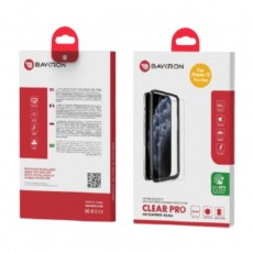 Baykron iPhone 12 Pro Max Antibacterial 2D Tempered Glass