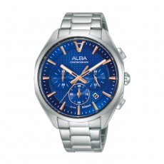 Alba 42mm Chronograph Gents Metal Casual Watch (AT3G81X1)