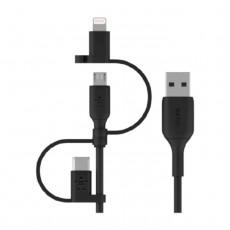 Belkin USB-C, Micro-USB / Lightning Cable 1M - Black