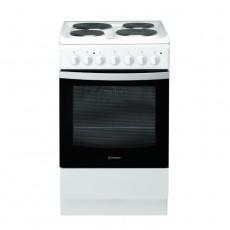 Indesit 50x60 cm 4 burner Ceramic Electric Cooker (I5ESH1E(W)/EX) – White