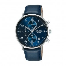 Alba 40mm Chronograph Gents Leather Casula Watch (AM3689X1)