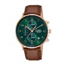 Alba 40mm Chronograph Gents Leather Casula Watch (AM3688X1)