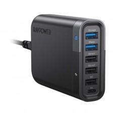 RAVPower RP-UM002 6-Port USB Charger Filehub UK 60W USB-C