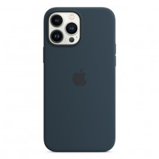 Apple iPHONE 13 PRO MAX DARK BLUE SILICONE COVER BUY IN XCITE KUWAIT