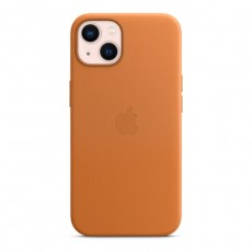 Iphone-13-case-golden-brown-orange-cover-leather