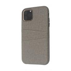 EQ iPhone 11 Pro Blank Pocket Back Case - Grey