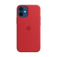 Apple iPhone 12 Mini MagSafe Silicone Case - Red