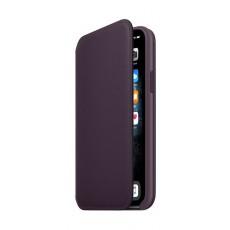 Apple iPhone 11 Pro Leather Folio Case - Aubergine 2