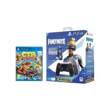 Sony PlayStation 4 DS4 Fortnite Neo Versa Wireless Controller + Crash Team Racing Nitro-Fueled - PlayStation 4 Game