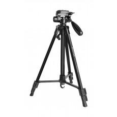 Promate Aluminum Portable and Adjustable Camera Tripod (Precise-140) - 140 cm