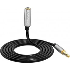 Promate AuxKit Premium 3-in-1 Auxiliary Cable Kit + Splitter (AUXKIT.BLACK)