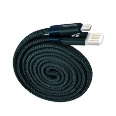 Promate Coiline-i Auto-Rolling Reversible 3.2Ft USB-A to Lighting Cable - Blue