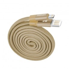 Promate Coiline-i Auto-Rolling Reversible 3.2Ft USB-A to Lighting Cable - Gold