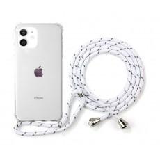 EQ Necklace String iPhone 12 Mini Case - White