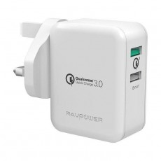 RAVPower 30W Dual USB Ports Wall Charger (RP-PC006) – White