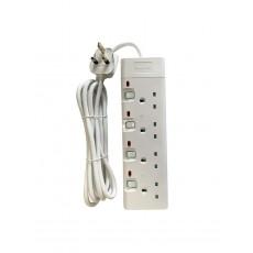 Philips 4-Sockets Power Extension 2M (SPN1942WB/56) - White