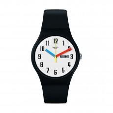 Swatch Elementary Quartz Analog 41mm Unisex Rubber Watch (SUOB728)