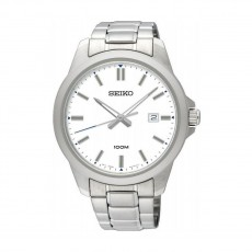 Seiko 42mm Analog Casual Gents Metal Watch (SUR241P) - Silver