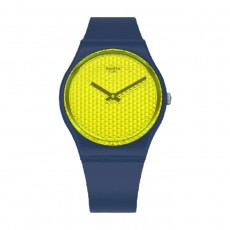 Swatch Quartz Analog 34mm Rubber Unisex Watch (SWAGN266)