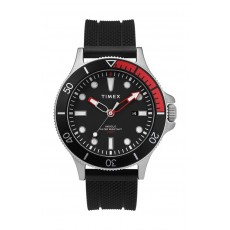 Timex Allied Coastline 43mm Silicone Strap Watch (TW2T30000) - Black