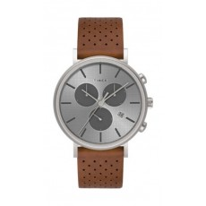 Timex Style Weekender 41mm Chronograph Unisex Leather Watch (TW2R79900) - Brown