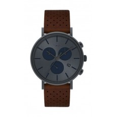 Timex Style Weekender 41mm Chronograph Unisex Leather Watch (TW2R80000) - Brown