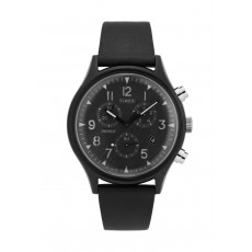 Timex 42mm Indiglo Analog Unisex Leather Watch (TW2T29500)