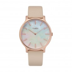 Timex 38mm Analog Ladies Leather Watch (TW2T35300)