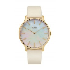 Timex 38mm Analog Ladies Leather Watch (TW2T35400)