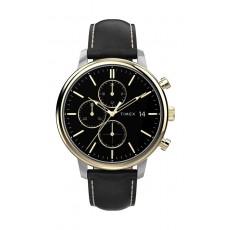 Timex City Collection 39mm Gent's Leather Quartz Watch - (TW2U39100)