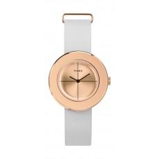 Timex 34mm Analog Ladies Leather Watch (TWG020200)