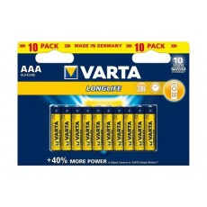 Varta LongLife AAA 10Pcs Alkaline Battery (Double Blister)