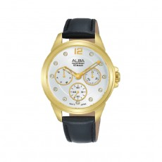 Alba 36mm Analog Ladies Leather Watch (AP6638X1) - Black