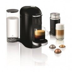 Nespresso VertuoLine Coffee & Espresso Maker with Aeroccino Plus Milk Frother - Black
