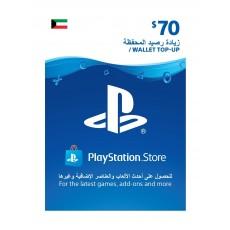 PlayStation Wallet Top-Up - ($70)