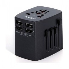 Anker Universal Travel Adapter With 4USB Ports (A2730H11) - Black
