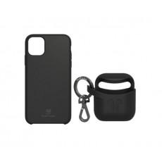 PodPocket iPhone 11 Case + AirPod Case - Midnight Black
