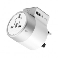 Promate Twist 2-USB AC Travel Adapter - White
