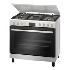 Bosch 90X60 CM 5 Burner Floor Standing Gas Cooker (HGW3ASQ50M) - Stainless Steel