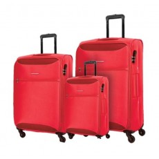 Kamiliant Zaka 3 Sets Soft Luggage (59+69+80cm) - Maroon