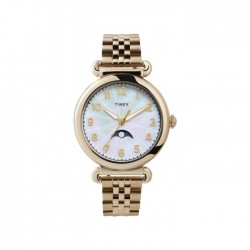 Timex Quartz 38mm Analog Ladies Stainless Steel Watch - (TW2T89500)