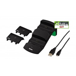 Hama Dual Charger For Xbox One/One S Controllers – Black