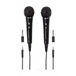 Thomson Dynamic Wired Microphone – Pack Of 2 (M135D) - Black