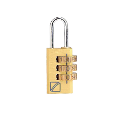 Travel Blue Easy-Read Combi Padlock – Gold