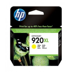 HP Ink 920XLY for InkJet Printing 700 Page Yield - Yellow (Single Pack)