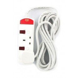 UMS 2-Way 5M Extension Cord With Switch - White TS2313N