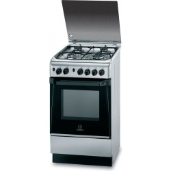 Indesit 50x50 cm 4-Burner Free Standing Gas Cooker (KN1G21(X)/EX)